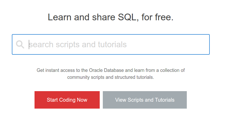 Practice Sql Online And Free Oracle Live Sql Ram Kedem